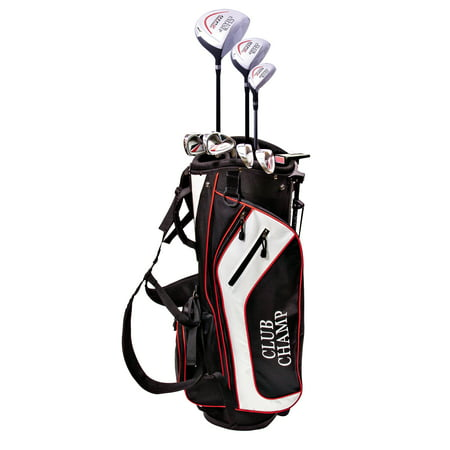 DTP Men's 12-Piece Golf Club Complete Set with Stand Bag, Right Handed