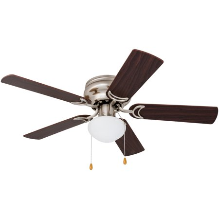 """Prominence Home Alvina Alvina 42"""" 5 Blade LED Hugger Indoor Ceiling Fan with Light Kit Included"""