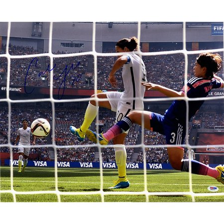 Steiner Sports Carli Lloyd Signed 2015 World Cup Goal Back Of Net Goal Shot Photographic Print