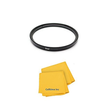 52mm High Definition Enhancing 6-Point Star Cross Filter for Nikon Normal AF 50mm f/1.8D, Nikon Telephoto 300mm f/2.8G VR and Nikon 55-200mm f/4-5.6 VR DX Lenses + CT Microfiber Cleaning