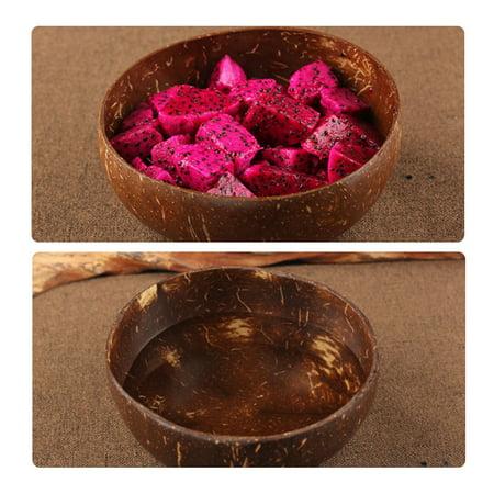 Natural Coconut Shell Bowl Rice Fruit Bowl Handicraft Art Work Home -