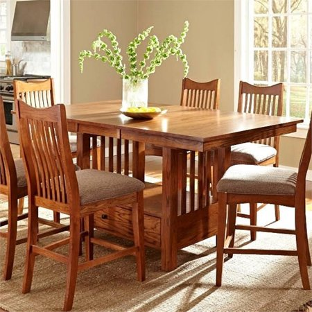 Bowery Hill Extendable Dining Table in Mission Oak