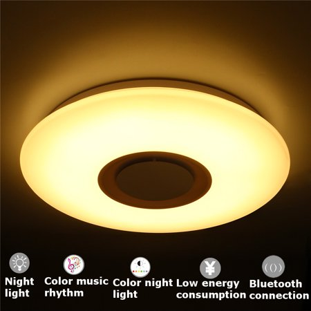 Bluetooth Pendant (Modern Pendant speakers bluetooth Flush Mount Lamp bluetooth Speaker LED RGB Music Ceiling Light)