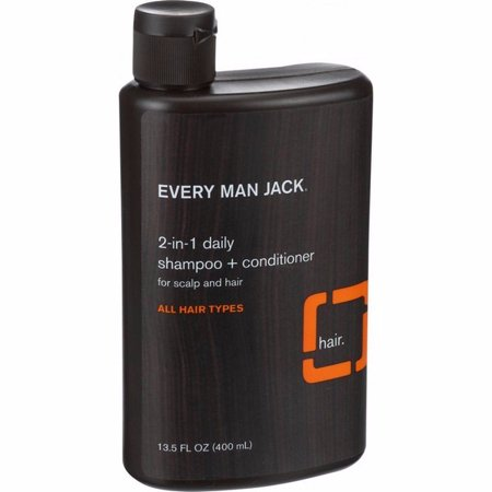 Every Man Jack 2 In 1 Shampoo Plus Conditioner - Daily - Scalp And Hair - All Hair Types - 13.5