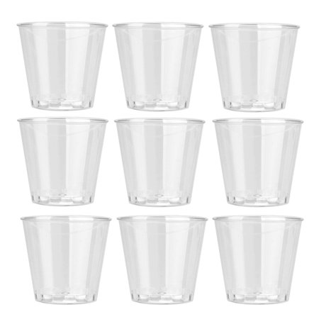 10PCS Clear Plastic Disposable Party Shot Glasses Jelly Cups Tumblers Birthday