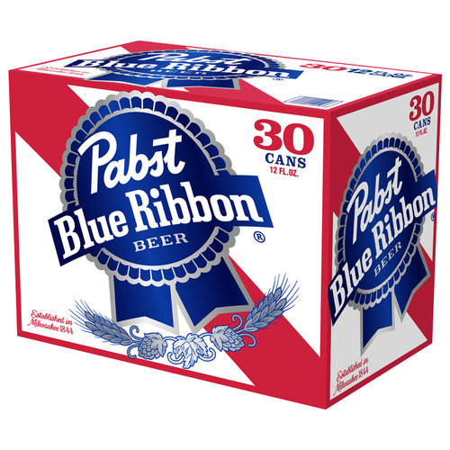 Pabst Blue Ribbon Beer 30 pack 12 fl oz Cans