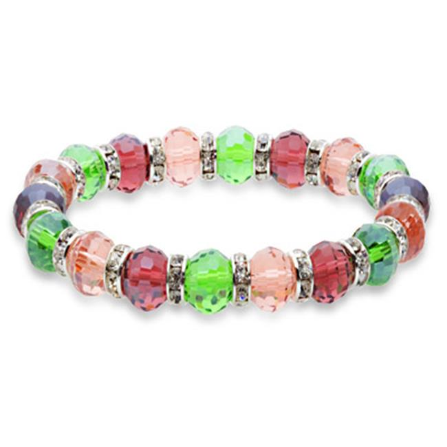 Alexander Kalifano BLUE-BGG-N06 Blue Tag Gorgeous Glass Bracelet - Multi-Colored