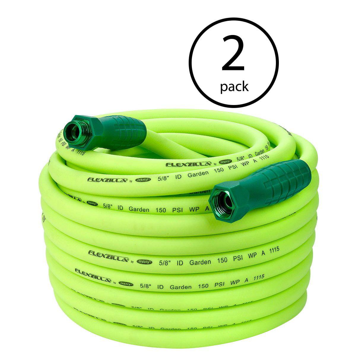 "Flexzilla SwivelGrip Garden Water Hose, 5/8"" x 100', 3/4""-11.5 Fitting (2 Pack)"