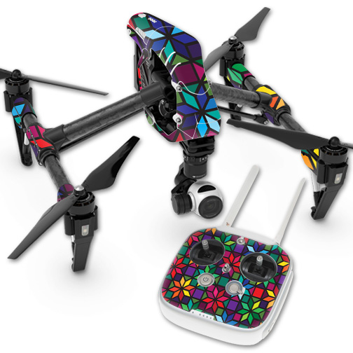 MightySkins Protective Vinyl Skin Decal for DJI Inspire 1 Quadcopter Drone wrap cover sticker skins