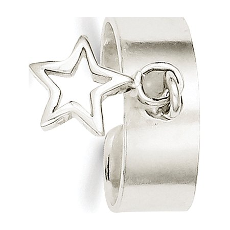 925 Sterling Silver Star Dangle Toe Ring - image 2 of 2