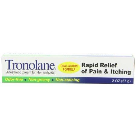 Paquet de 2 Tronolane Soulagement rapide Anesthetic Crème pour Hémorroïdes 2 Oz Chaque