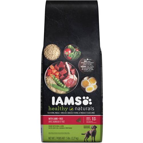 Iams Healthy Naturals Dog Food, Lamb and Rice, 5 lbs