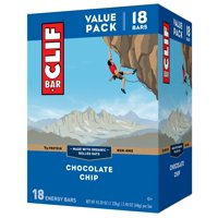 Clif Bar, Chocolate Chip, 18 Energy Bars, 2.4 Oz each