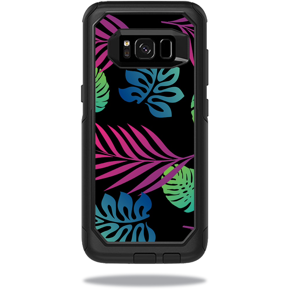 MightySkins Protective Vinyl Skin Decal for OtterBox CommuterSamsung Galaxy S8 Case sticker wrap cover sticker skins Neon Tropics