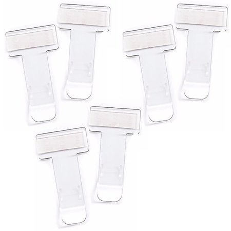 6Pcs Glue Car Bus Parking Vehicle Motorhome Van Ticket Notes Clip Bill Clamp Fastener Holder