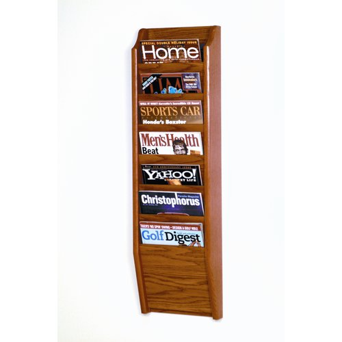 Wooden Mallet Seven Pocket Legal Size File Holder
