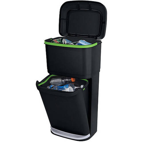 Rubbermaid Double Decker 2-in-1 Recycling Modular Bin with LinerLock