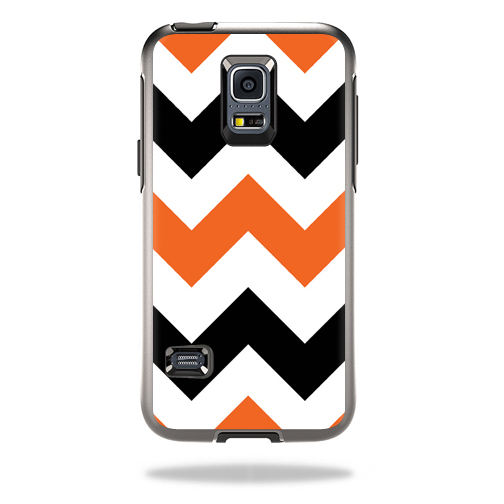 Mightyskins Protective Vinyl Skin Decal Cover for OtterBox Symmetry Samsung Galaxy S5 Mini Cover wrap sticker skins Orange Chevron
