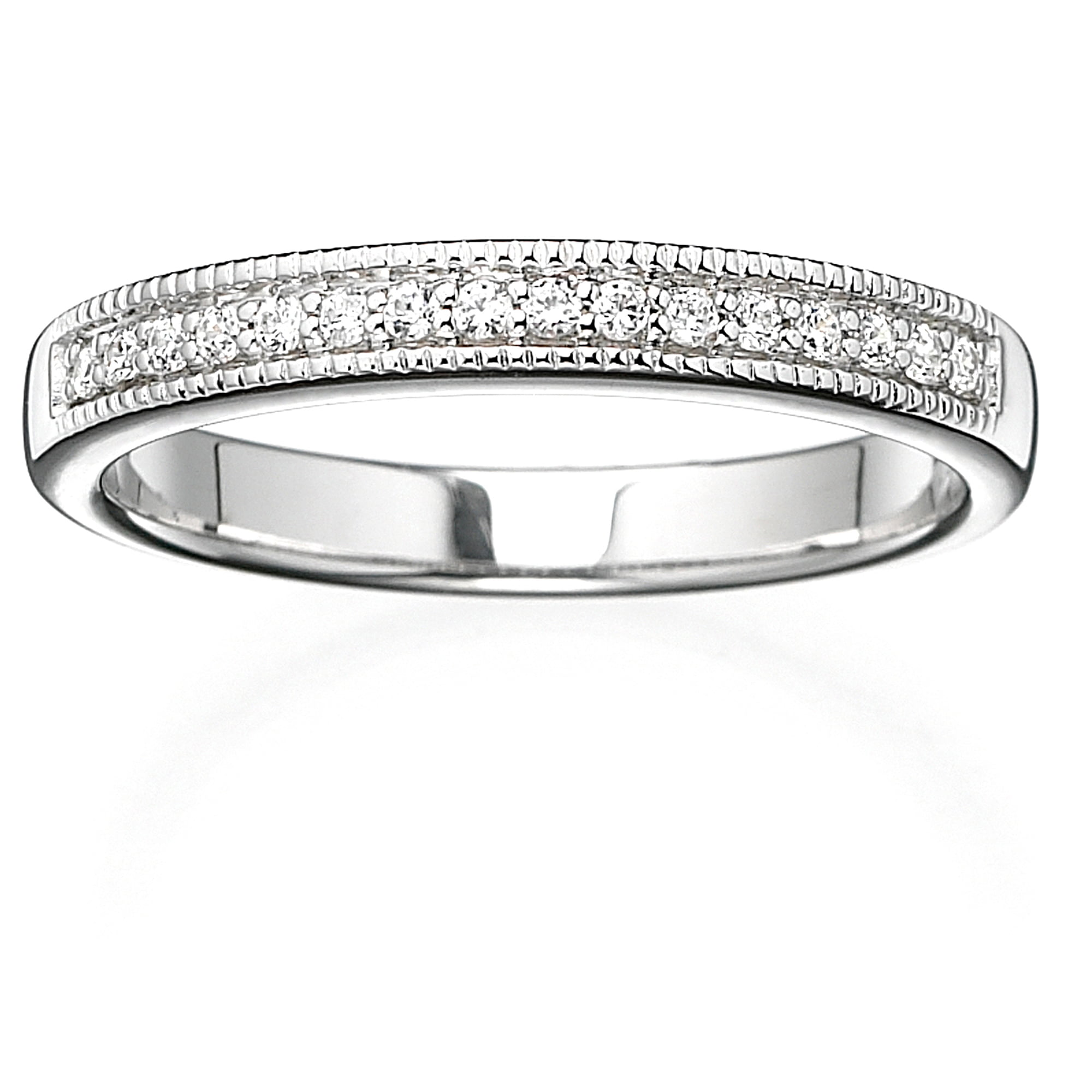 Always & Forever Platinaire 1 8 Carat T.W. Diamond Milgrain Wedding Band by Generic