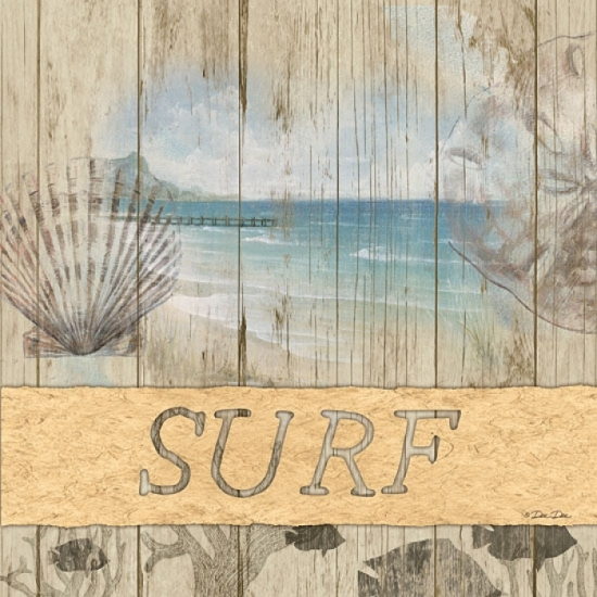 Surf Poster Print by Dee Dee (12 x 12)