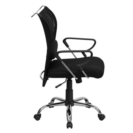 - Mesh Manager Mid-Back Chair, Black