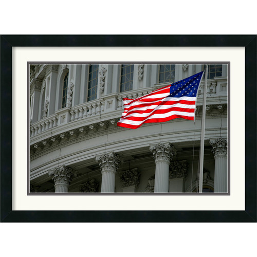 Amanti Art 'Capitol Flag' by Andy Magee Framed Photographic Print