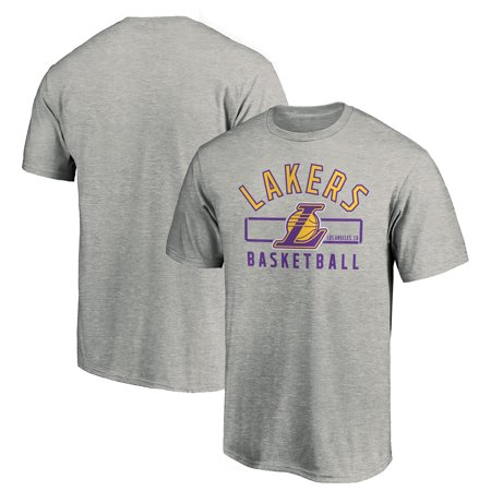 Adult Shop Los Angeles (Men's Fanatics Branded Gray Los Angeles Lakers Large Logo Arc)