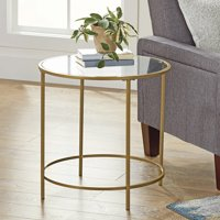 Better Homes & Gardens Nola Side Table, Gold Finish