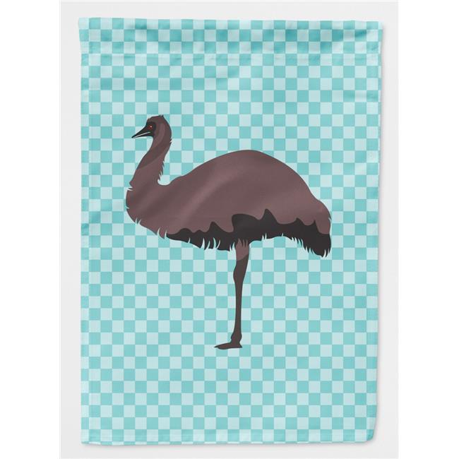 Carolines Treasures BB8096CHF Emu Blue Check Flag Canvas House - image 1 of 1