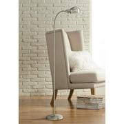 360 Lighting Modern Gooseneck Floor Lamp Tall Satin Nickel Adjustable Arm for Living Room Reading Bedroom Office