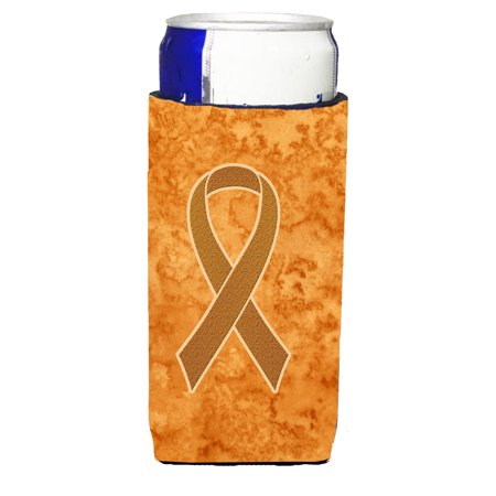 Orange Ribbon for Leukemia Awareness Ultra Beverage Insulators for slim cans AN1204MUK