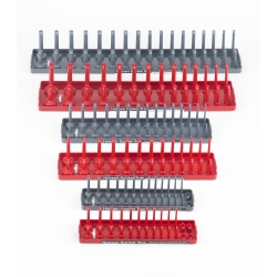 Hansen Global 92000 Socket Tray, SAE & Metric Storage, Pack of 6