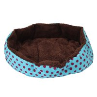 Ktaxon Nice-looking Dot Pattern Octagonal Flannelette & Cotton Pet Beds Dog Cat Beds Rose Red Light Blue Yellow Pink