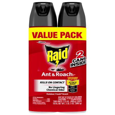Raid Ant   Roach Killer  Fragrance Free  17 5 Oz  2 Pk