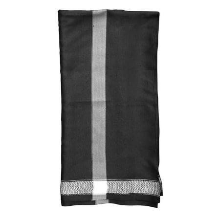 Scarf Jewelry Accessory - MuslimClothing® Black Kashmir Yemeni Habaib Style Men's Muslim Scarf Shawl Turban Sorban