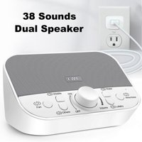 White Noise Machine - Sound Machine for Sleeping & Relaxation w/ Timer - 38 Soothing Natural Sounds Noise Maker - Portable Sleep Sound Therapy for Home, Office or Travel - Built in USB Output Charger