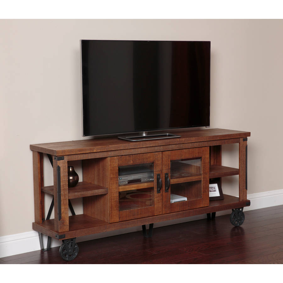 American Furniture Classics Industrial Collection 73 inch Console/Entertainment Center with Glass Doors