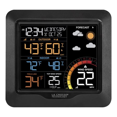 La Crosse Technology 327-1417 Color Wind Speed Weather Station with Wind & Outdoor