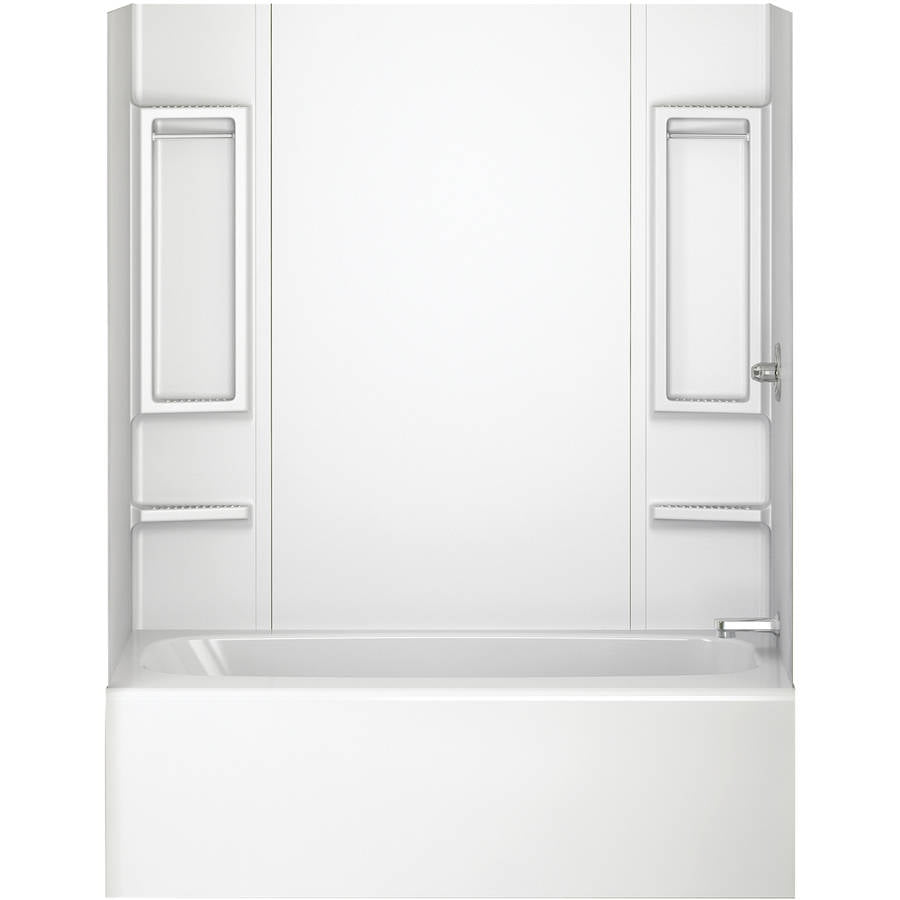 Peerless 40164 White 5-Piece Adhesive Tub Wall by Delta Faucet