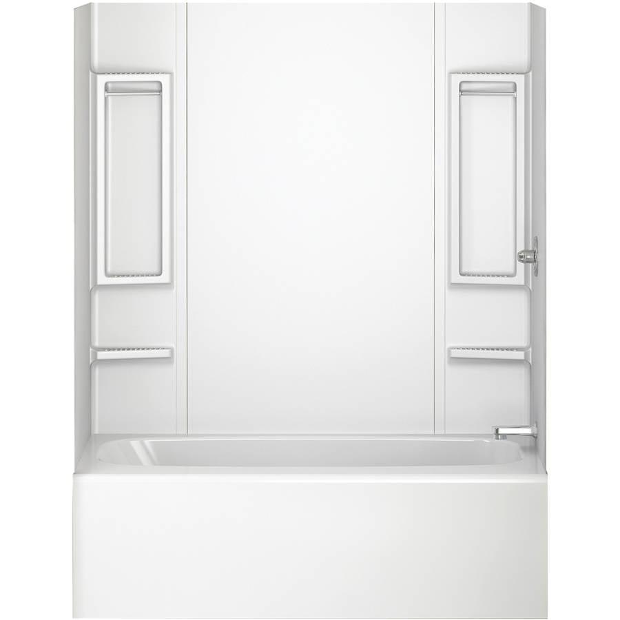 Peerless 40164 White 5-Piece Adhesive Tub Wall | eBay
