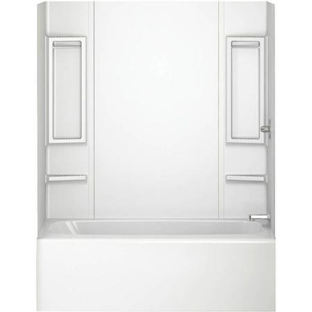 Peerless 40164 White 5-Piece Adhesive Tub Wall - Walmart.com