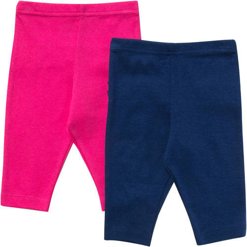 Gerber Newborn Baby Girl 2 Pack Fuchsia Leggings