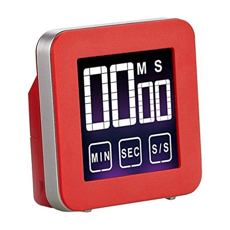 Cook N Home Touch Screen Kitchen Timer, Red