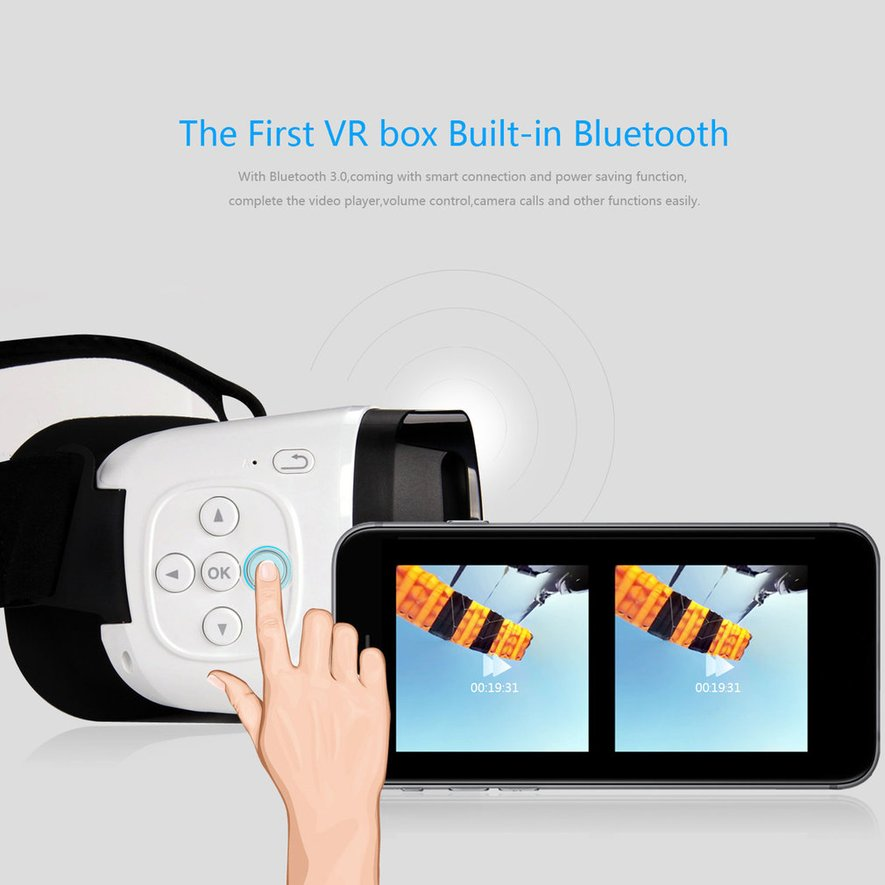 LESHP bluetoot h 3D VR Glasses Headset Virtual Reality Goggles for Smartphones