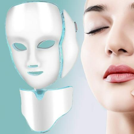 7 Color Led Face Masks Neck Photon Light Skin Rejuvenation Therapy Facial Skin Care Masks Led Facial Skin Rejuvenation Therapy Face Care Beauty Machine Walmart Canada