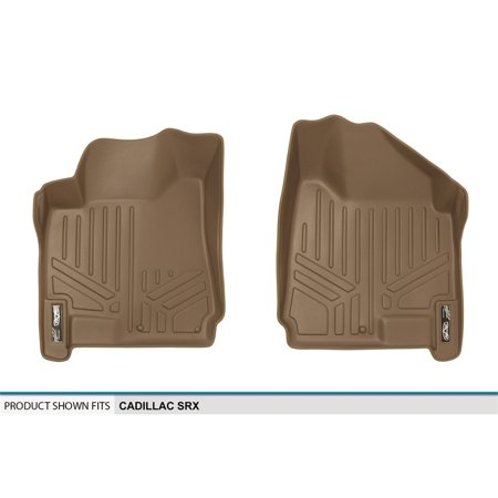 Maxliner 2010-2016 Cadillac SRX Floor Mats First Row Set Tan A1087 2007 Tan 1st Row