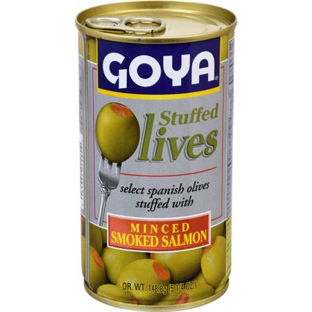 Goya Stuffed Lives Select Spanish Olives Stuffed With Minced Smoked Salmon, 5.25 (The Best Smoked Salmon)