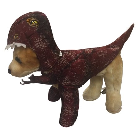 PET20109 Raptor Dog Costume, X-Small, Roam Printed Headpiece By Animal Planet