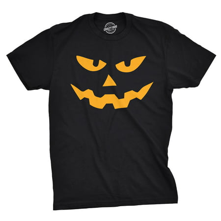 Mens Triangle Nose Pumpkin Face Funny Fall Halloween Spooky T shirt