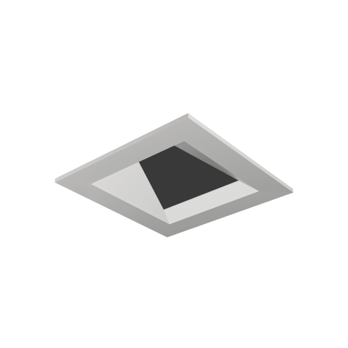 "Tech Lighting EN3SFW-W Entra 3"" Square Flanged Wall Wash Recessed Trim"